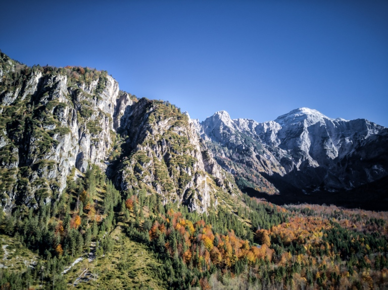 Alpine mountains during fall